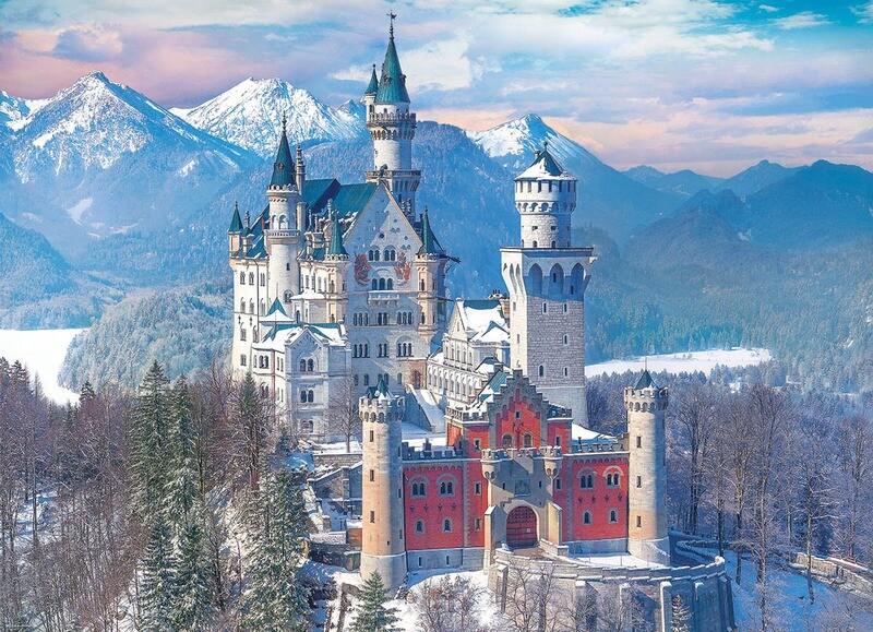 Neuschwanstein Castle In Winter - Germany 1000 Pc