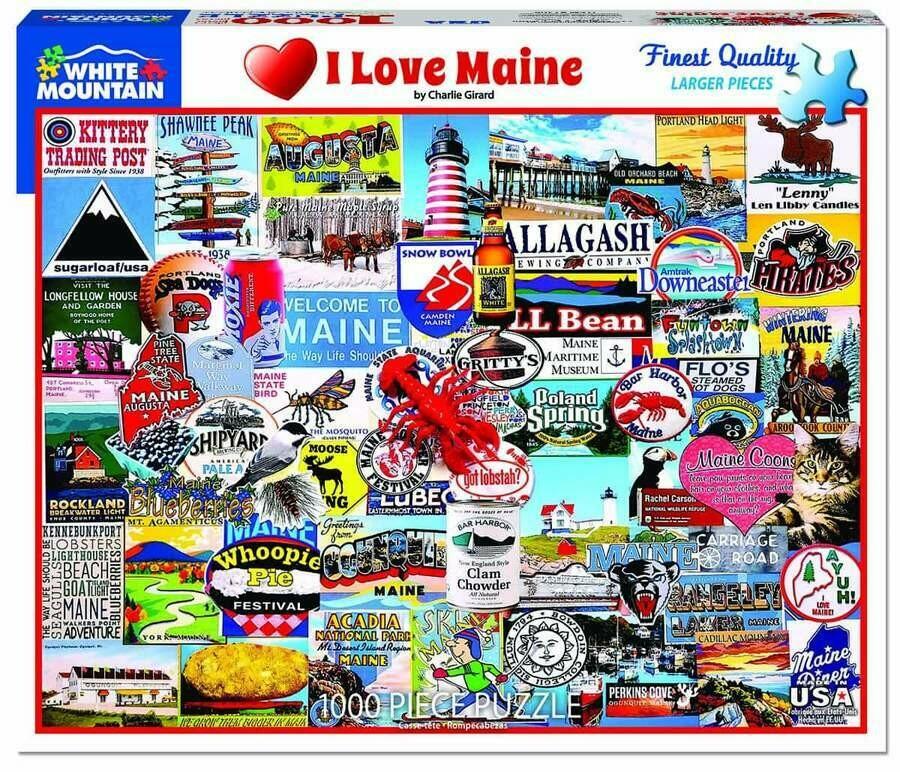 I Love Maine 1000 Pcs