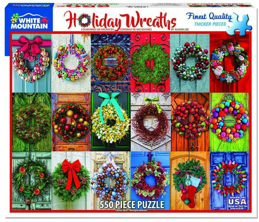 Holiday Wreathes 550 Pcs