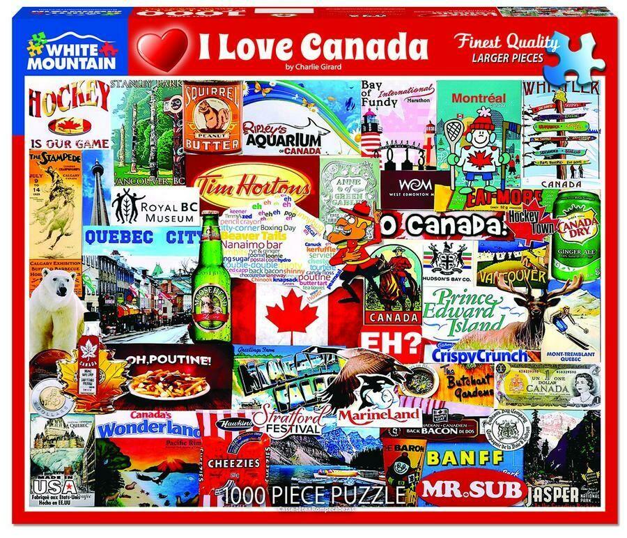 I Love Canada 1000 Pcs