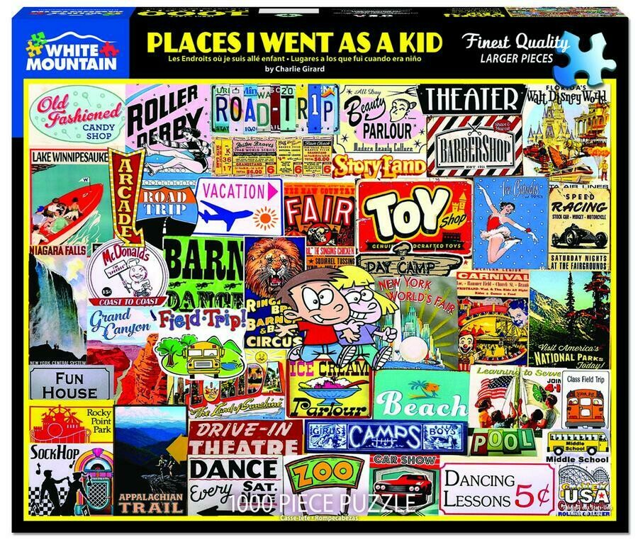 Places I Went As A Kid 1000 Pc