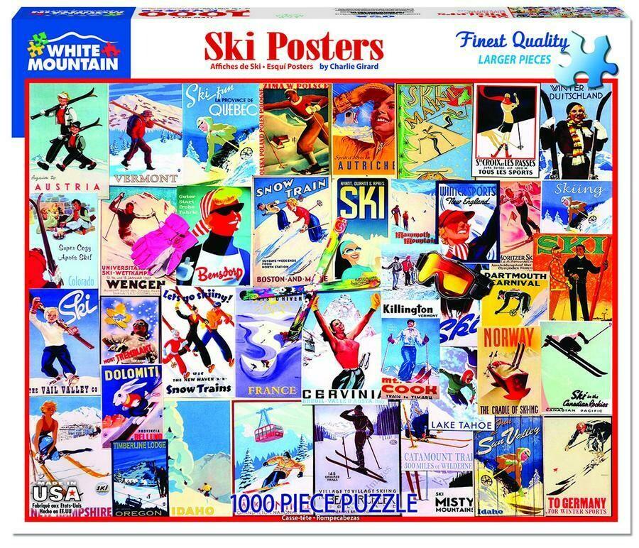 Ski Posters 1000 Pc
