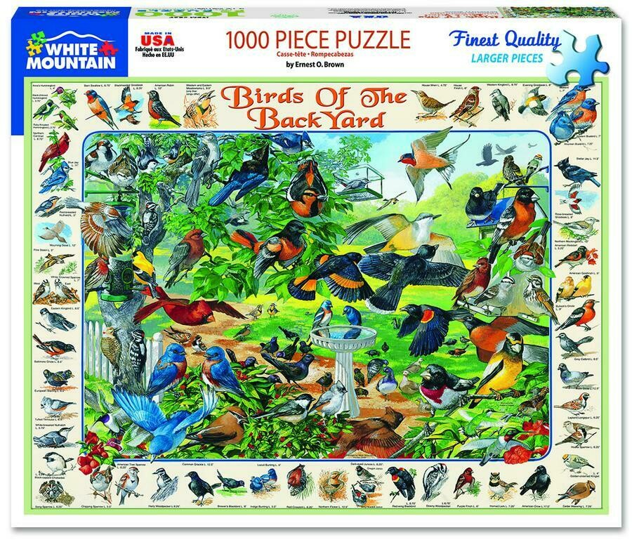 Birds Of The Backyard 1000 Pc