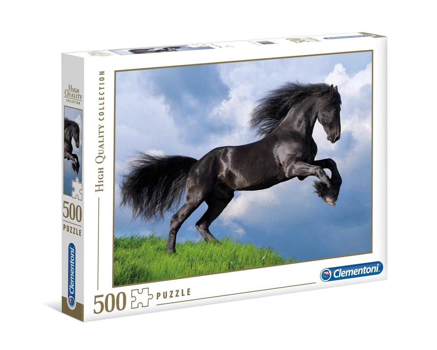 Fresian Black Horse 500 Pc