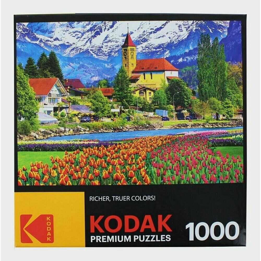 Brienz Town And Flowers, Switzerland 1000 Pc