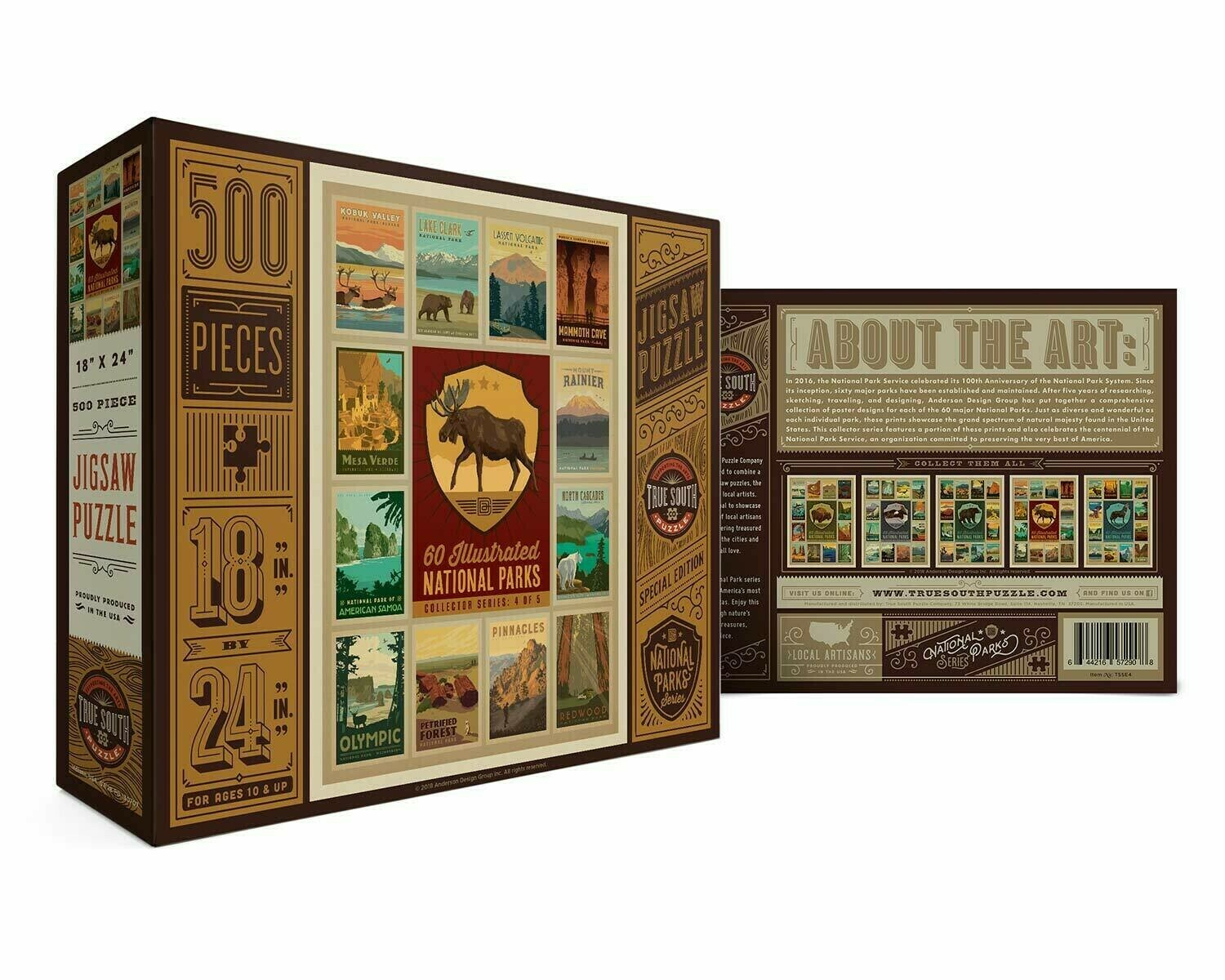60  Illustrated National Parks Series 4 Of 5 500 Pc