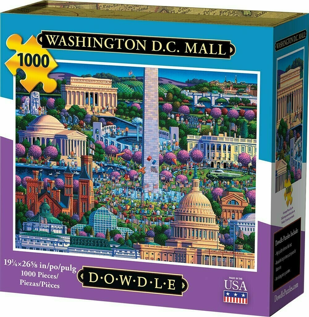 Washington D C Mall Cherry Blossoms 1000 Pc