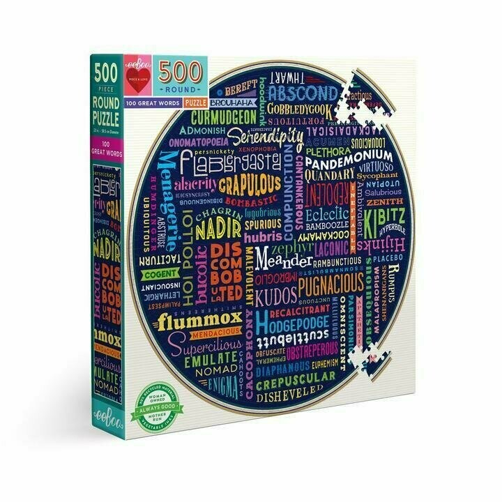 100 Great Words 500 Pc Round