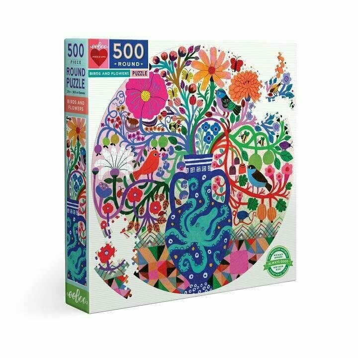 Birds And Flowers 500 Pc