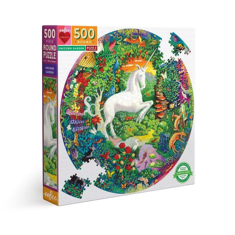 Unicorn Garden 500 Pc Round