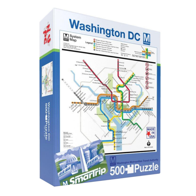 Washington DC Metro Map 500 Pc