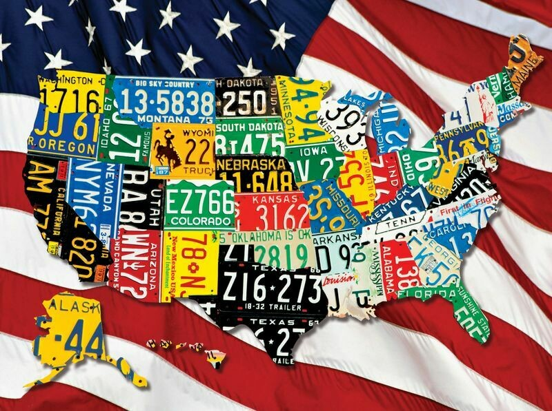 State Plates 1000 Pc