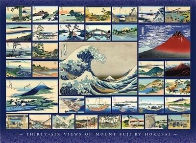 Hokusai  36 Views Of Mount Figi 1000 Pc