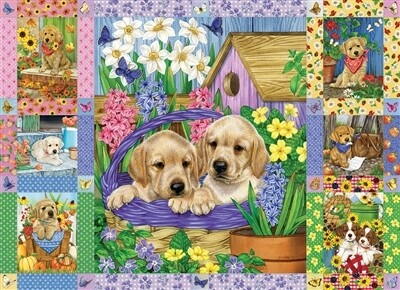 Puppies And Posies Quilt 1000 Pc