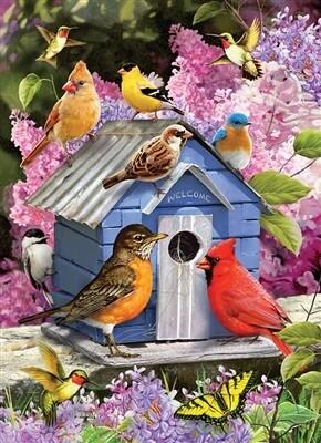 Spring Birdhouse 1000 Pc