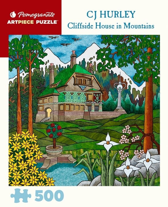 Cliffside House In Mountains 500 Pc