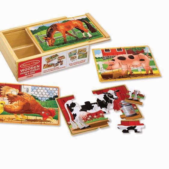 Wooden Farm 12 Pc X 4 In Box
