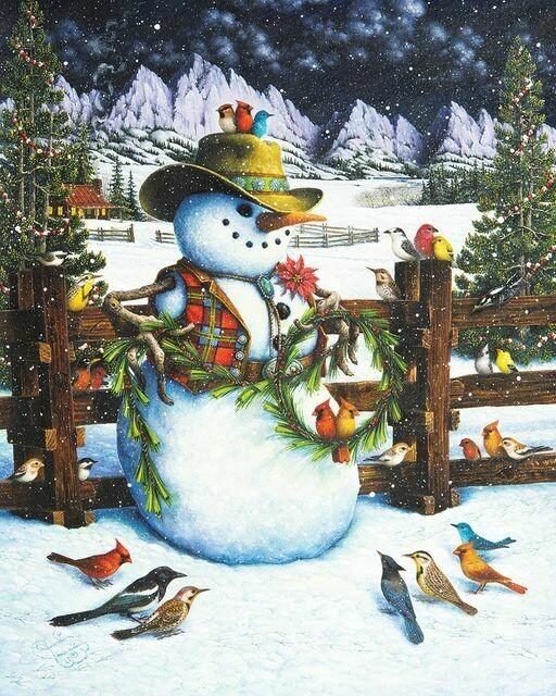 Western Snowman 1000 Pc