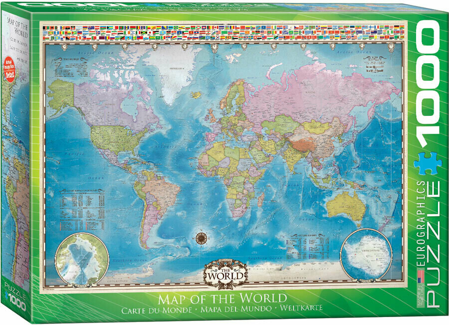 Map Of The World 1000 Pc