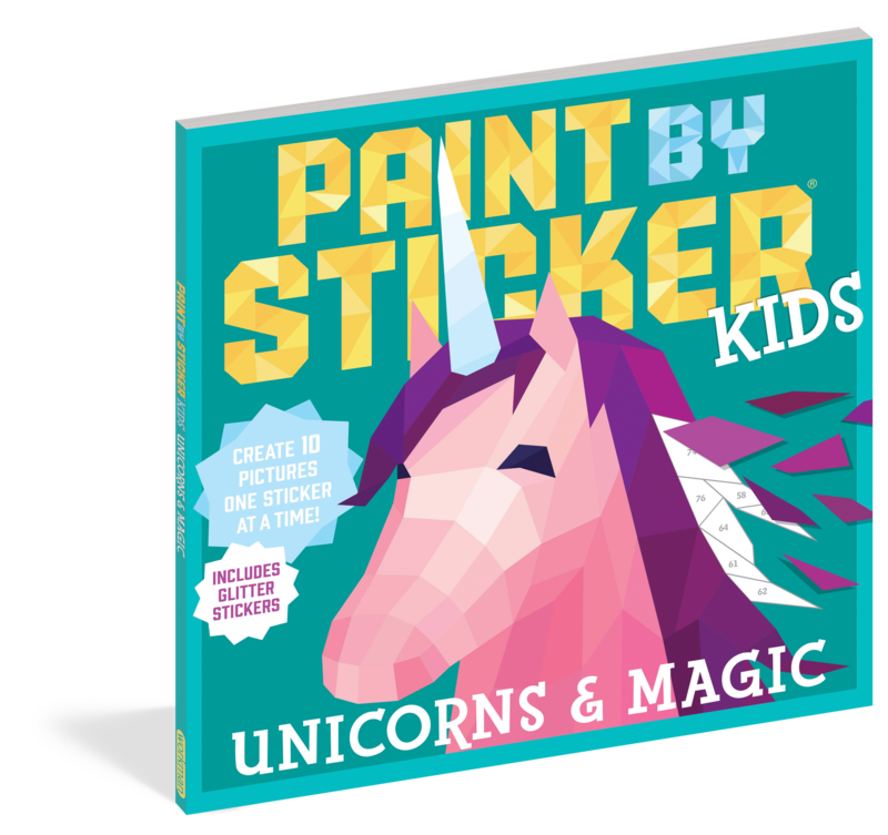 Kids Paint By Stickers Unicorns & Magic Glitter