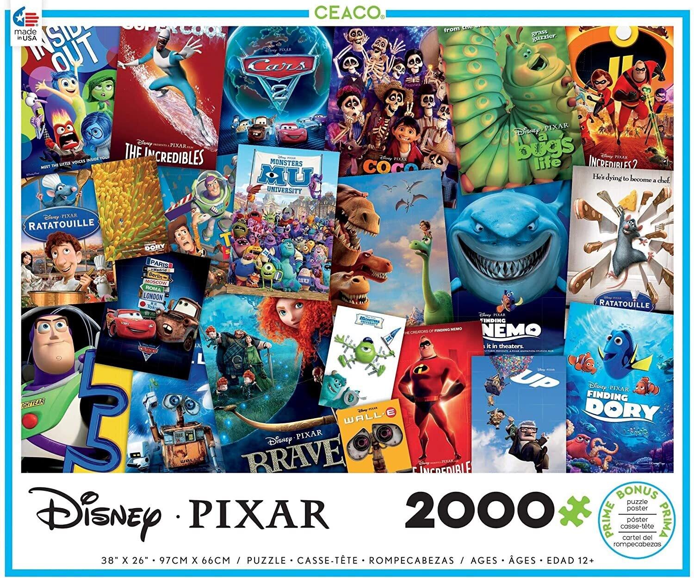 Disney Pixar Movie Posters  2000 Pc