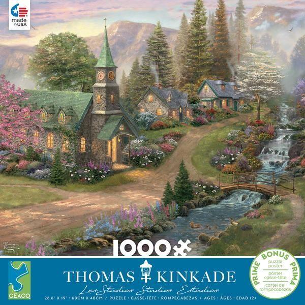 Thomas Kinkade Sunday Morning Chapel 1000 Pc