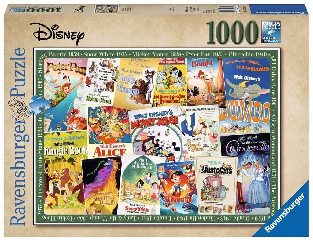 Vintage Disney Posters 1000 Pc
