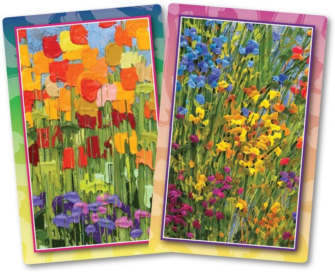 Playing Cards Flourishing Flowers