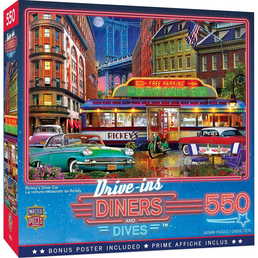 Drive In Diners And Dives 550 Pc. (Rickey's Diner Car)