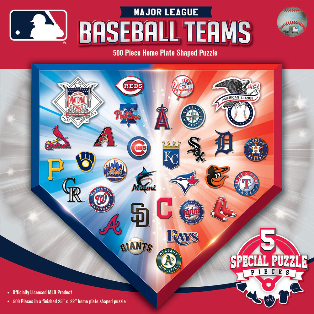 Baseball Teams Home Plate  500 Pc