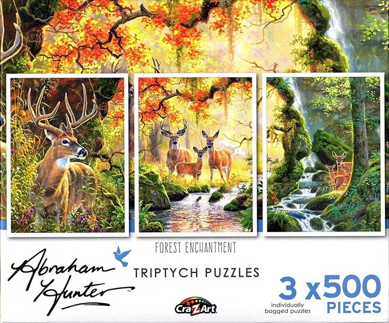 Forest Enchantment Triptych 3 X 500 Pc