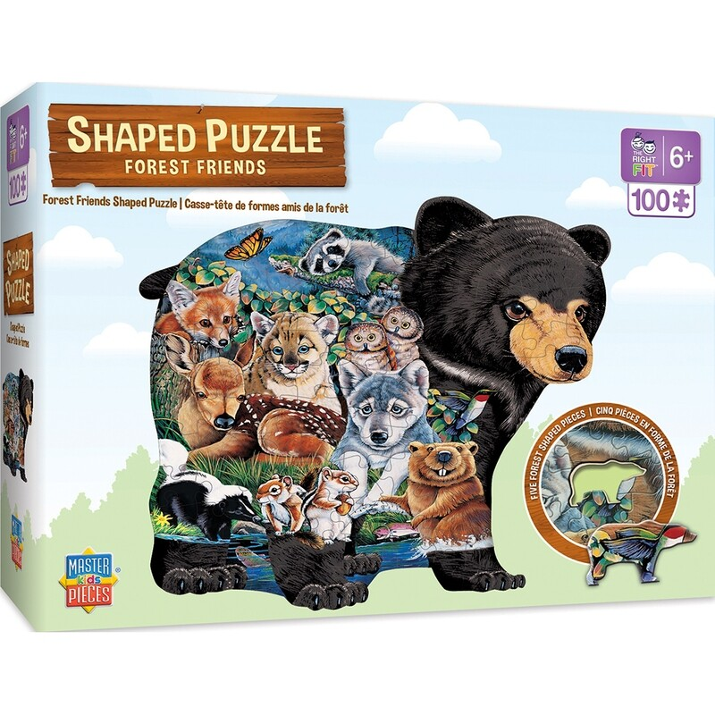 Forest Friends 100 Pc Shaped