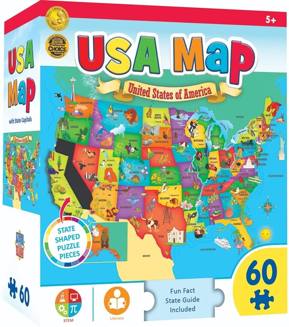 USA MAP 60 Pc