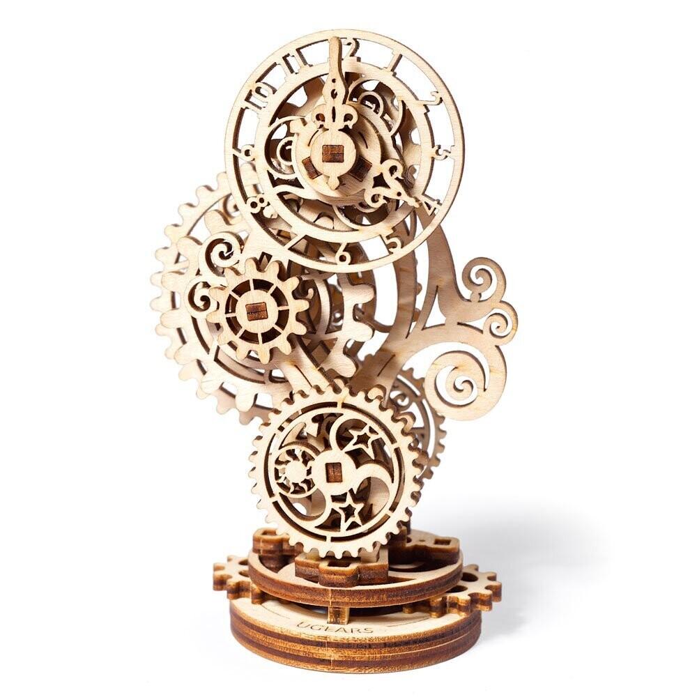 Steampunk Clock 3D Wood Mechanical 43 Pc