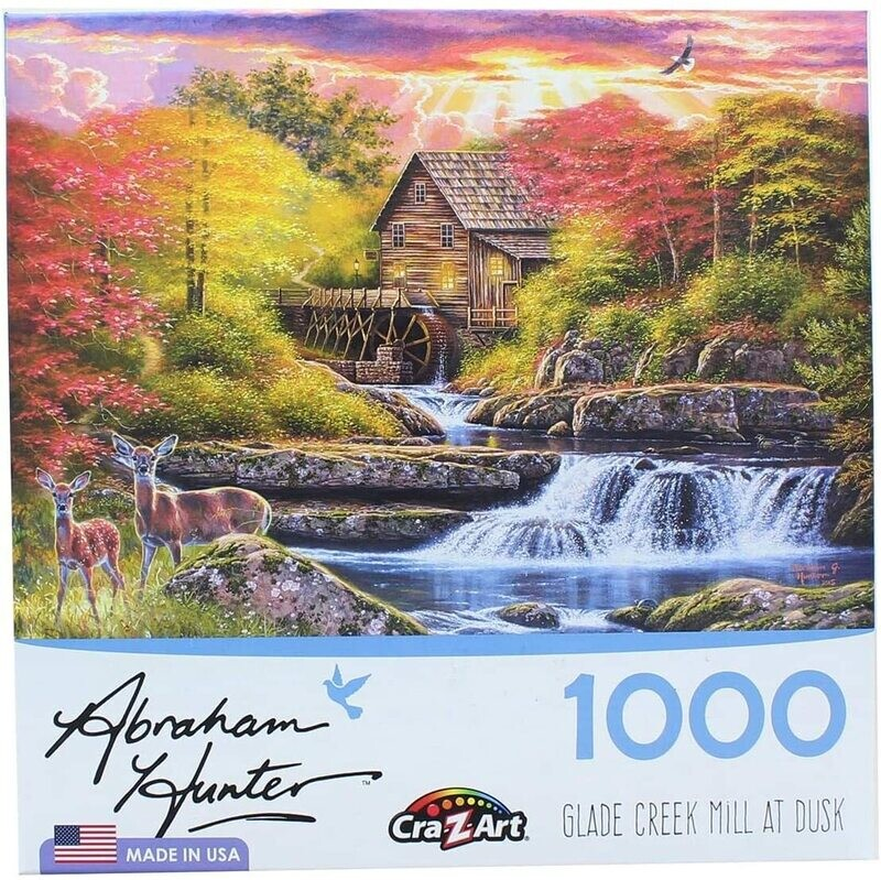 Glade Creek Mill At Dusk 1000 Pc