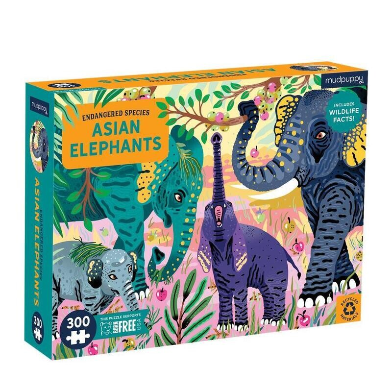 Asian Elephants 300 Pc