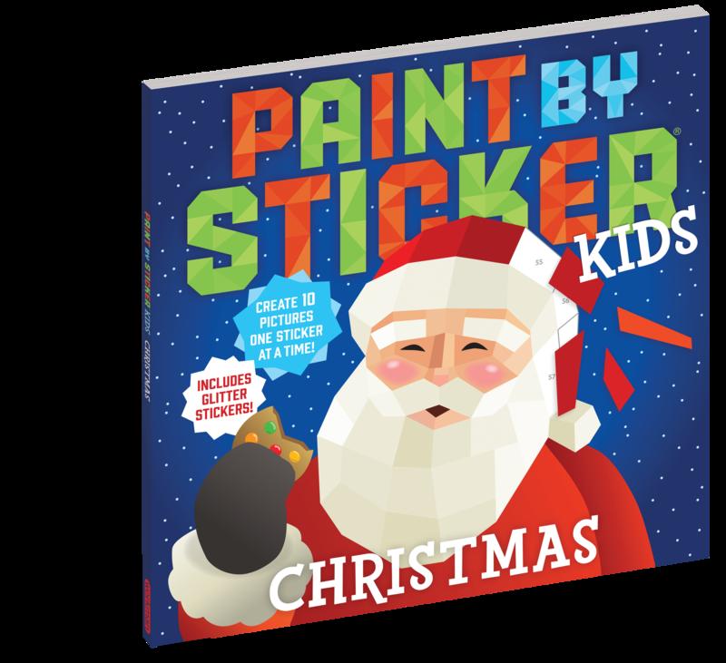 Paint By Sticker Glitter. Christmas