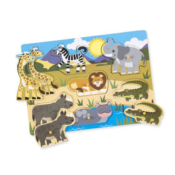 Safari Wood Peg 7 Pc