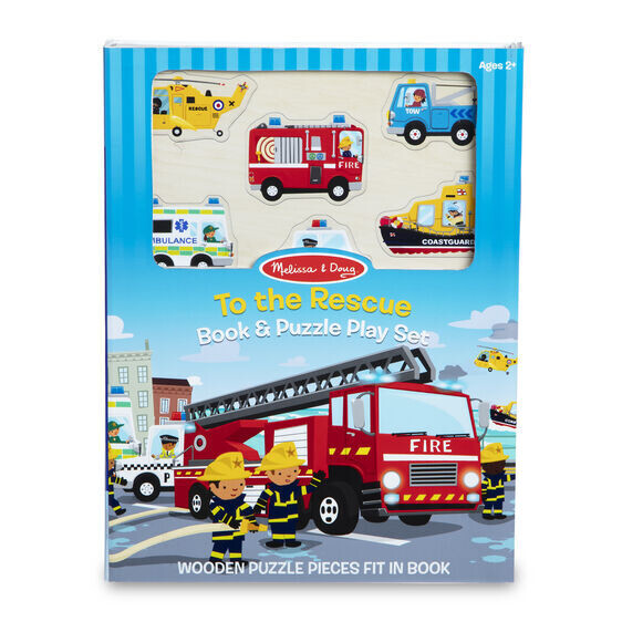 To The Rescue Book And Puzzle Play Set 6 Pc
