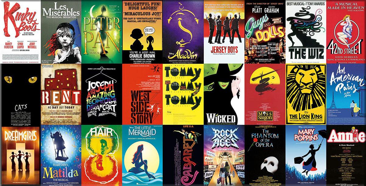 Broadway Musicals 1000 Pc Pano