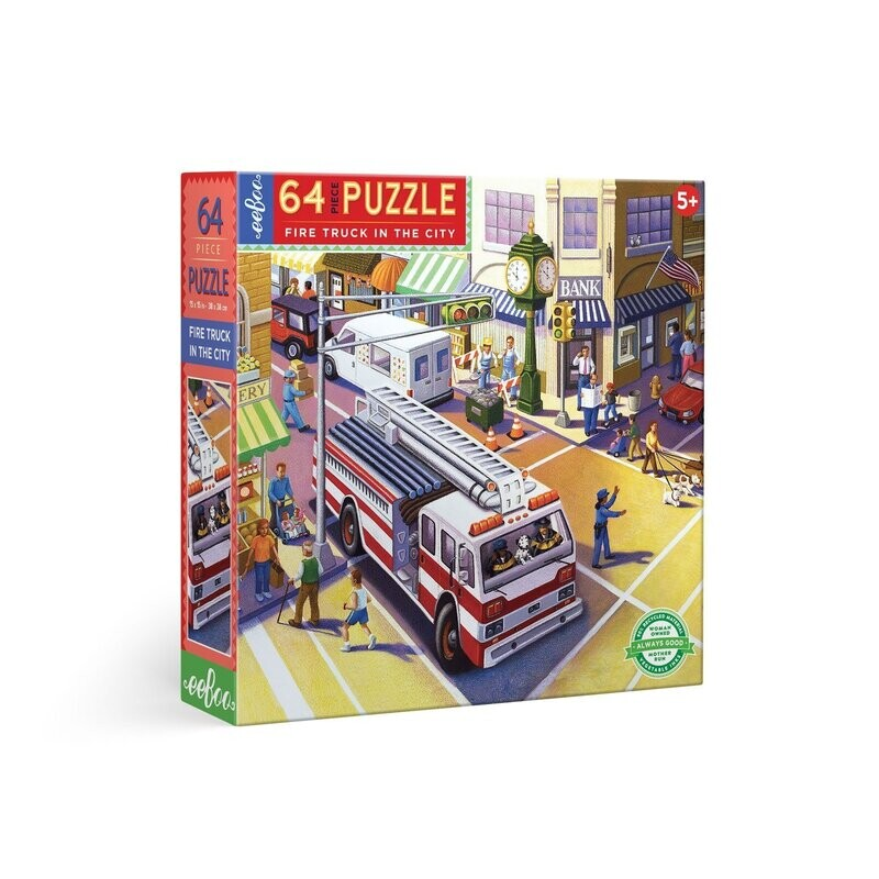 Fire Truck In The City 64 Pc