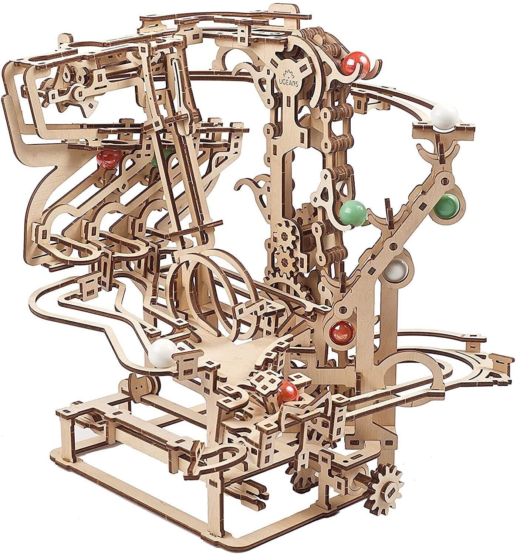 Marble Run Chain Hoist Wood 3D 400 Pc