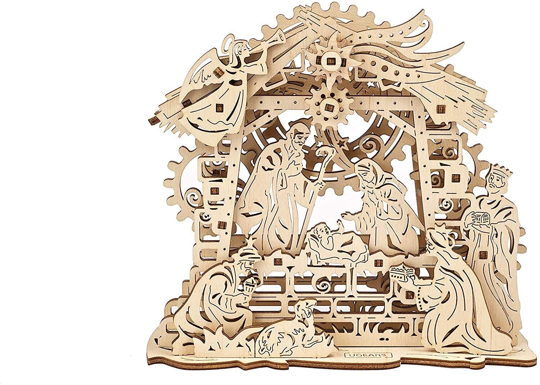 Nativity Scene Wood 3D 59 Pc