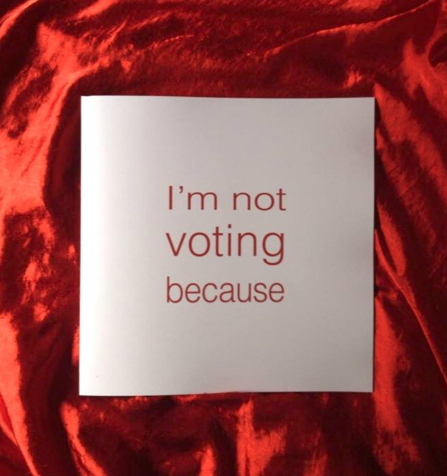 I'm Not Voting Because.. photobook