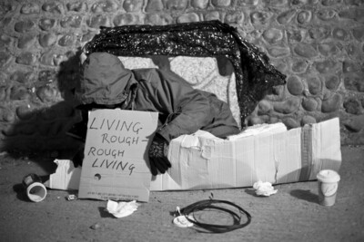 Living Rough – Rough Living.   Photobook