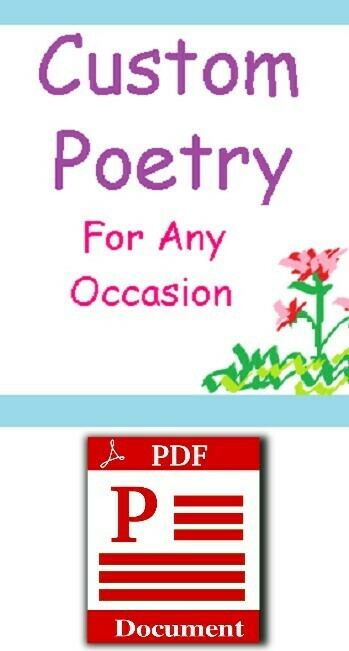 Custom Poem: Digital Delivery
