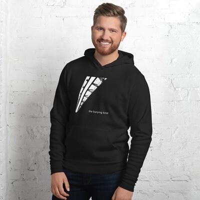 The Burying Kind Unisex hoodie (White Logo)