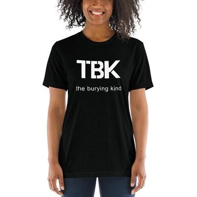 The Burying Kind Ladies' short sleeve t-shirt (White Logo)