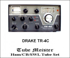 DRAKE TR4-C Complete Primo Tube Set 6JB6 (3)+12BY7 + All TX and RX