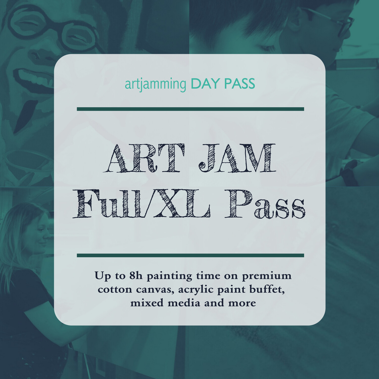 Full/XL Day Pass ART JAM 4 X 2h Sessions